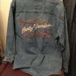 Harley Davidson denim shirt #121